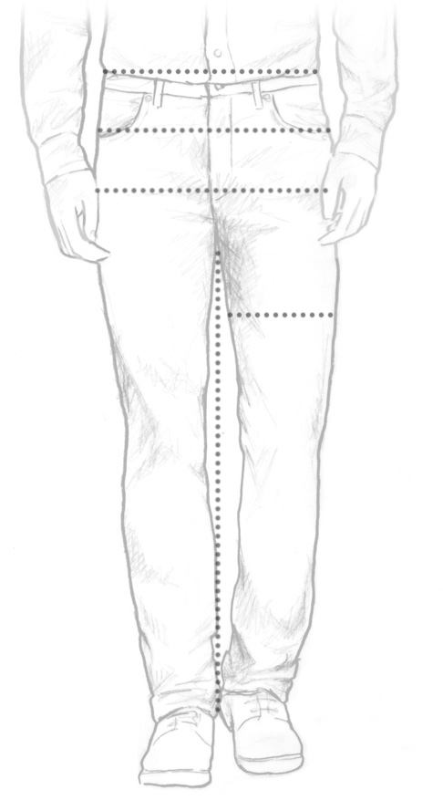 Jeans size diagram