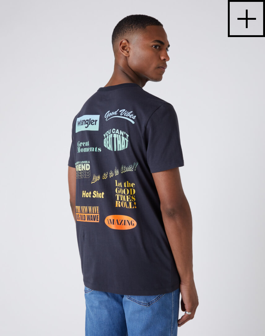 short sleeve good times tee in blue graphite