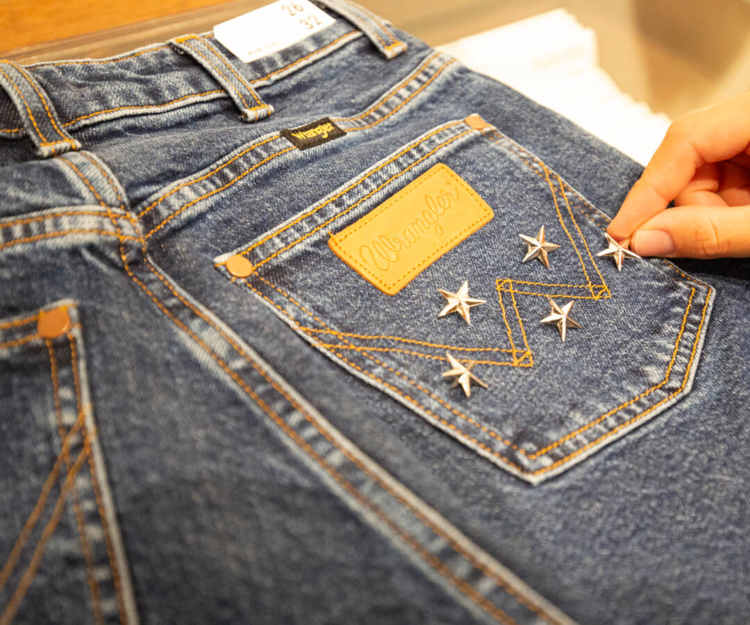 Wrangler Denim customised with stars